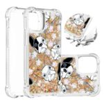 Pattern Printing Glitter Powder Sequins TPU Case for iPhone 12 Max/Pro 6.1 inch – Dog