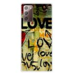 Pattern Printing TPU Case for Samsung Galaxy Note 20/Note 20 5G – LOVE Pattern
