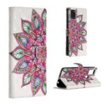 Light Spot Decor Patterned Leather Wallet Case for Samsung Galaxy A21s – Colorful Flower