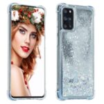 Glitter Powder Pure Color Quicksand TPU Shell for Samsung Galaxy S20 Plus – Silver