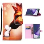 Pattern Printing Leather Shell for Samsung Galaxy Note20 Ultra/Note20 Ultra 5G – Fox