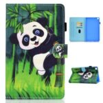 Printing Skin Leather with Card Holder Tablet Cover for Samsung Galaxy Tab A7 10.4 (2020) T500 – Panda and Bamboo