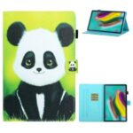 Printing Texture Leather with Card Holder Cover for Samsung Galaxy Tab A7 10.4 (2020) T500/T505 – Panda