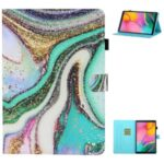 Printing Texture Leather with Card Holder Cover for Samsung Galaxy Tab A7 10.4 (2020) T500/T505 – Shiny Powder
