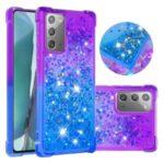 Shockproof Gradient Glitter Powder Quicksand TPU Shell for Samsung Galaxy Note 20/Note 20 5G – Purple / Blue