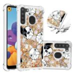Patterned Quicksand Shockproof TPU Protector Shell for Samsung Galaxy A21 (US Version) – Dog