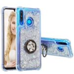 Glitter Powder Quicksand Rhinestone Decor Kickstand TPU Phone Cover for Huawei P30 Lite – Silver