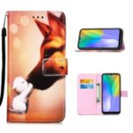Pattern Printing Wallet Stand Leather Protective Case for Huawei Y6p – Fox