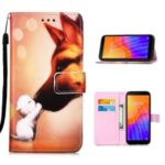 Leather Shell Fashion Printing Wallet Stand Case for Huawei Y5p/Honor 9S – Fox