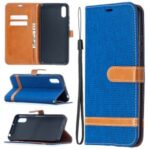 Assorted Color Jeans Cloth Leather Shell for Xiaomi Redmi 9A – Baby Blue