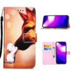 Pattern Printing Wallet Stand Leather Case for Xiaomi Mi 10 Lite 5G – Fox