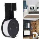 Smart Speaker Power Adapter Outlet Wall Mount Holder for Echo Dot 2 – Black