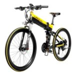 LANKELEISI XT750 Folding Electric Bike Bicycle 48V 10.4AH 400W Motor 26in Tire Max Speed 35km/h MTB E-Bike 90KM Mileage