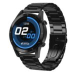 DT92 Bluetooth IP67 Waterproof Health Monitoring Smart Watch Low Power Consumption Steel Watch Band – Black