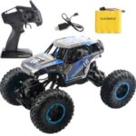 Children Electric Car 1:14 RC Car 2.4G 4WD Remote Control High Speed Off-road Vehicle Toy [58666C] – Blue