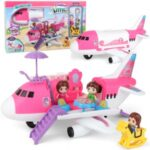 Children's Toys Airplane Educational Toy Large Airplane Inertial Airliner 17-Piece Set DIY Assembly Plane Model
