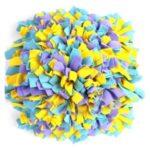 LEMONDA Colorful Pet Dog Sniffing Pad Dog Toy Food Finding Trainning Blanket Mat – Yellow/Purple/Blue