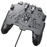 Mobile Phone Game Controller Joystick Cooling Fan Gamepad for 4.7-6.5 inch Phones-Pug – in Wired