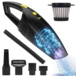 Cordless Car Handheld Vacuum Cleaner USB Rechargeable 2200mAh Battery Portable for Car Home