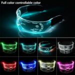 LED Luminous Glasses Flashing Light Up Goggle for Halloween Christmas Party Music Festival – Controllable Color