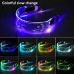 LED Luminous Glasses Flashing Light Up Goggle for Halloween Christmas Party Music Festival-Slow Color – changing