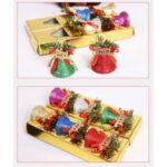 6Pcs Merry Christmas Tree Bells Colorful Xmas Pendant Accessories – 6Pcs 4.1cm Diameter