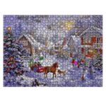 Christmas DIY Puzzle Painting Xmas Christmas Gifts Toy Home Party Decor – Horse
