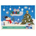 Christmas DIY Puzzle Painting Xmas Christmas Gifts Toy Home Party Decor – Snowman