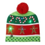 Christmas Party LED Hat Light Up Xmas Cap for Women Men Child Gifts – Gingerbread Man