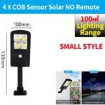 LED Solar Street Light 3 Modes Remote Garden Lamp IP67 Waterproof Motion Sensor Outdoor Lighting – S Size