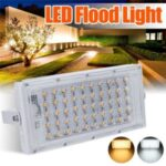 LED Street Light 50W 220V Floodlight Waterproof Wall Lamp Outdoor Lighting for Garden Square – White