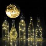10Pcs/Set LED String Light Wine Bottle Stopper Color Light – Yellow/1 meter 10 lights
