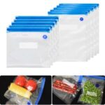 4Pcs/Set Resealable Ziplock Bag Food Packaging Clear Pouch 26x28cm