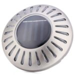Solar Garden Underground Light 6-LED Outdoor Waterproof Stainless Steel Surface Solar Wall Lamp – White Light Color
