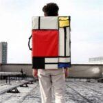 Color Splicing Multi-functional 4K Canvas Bag Outdoor Travel Sketch Bag