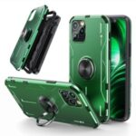 Drop-proof Kickstand Protective Case for iPhone 12 Pro Max Metal Phone Cover – Green
