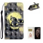 Light Spot Decor Leather Patterned Case for iPhone 12 mini Cover with Stand Wallet – Ghost