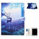 Pattern Printing Leather Cover Case with Slots and Stand for iPad 10.2 (2020) – Deer