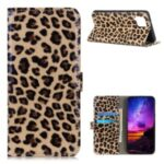 Leopard Pattern Wallet Stand Leather Case for Samsung Galaxy A42 5G