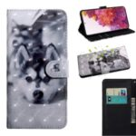 Light Spot Decor Pattern Printing Wallet Stand Leather Cover Case for Samsung Galaxy S20 FE – Wolf