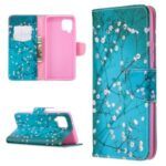 Pattern Printing Leather Wallet Protective Shell for Samsung Galaxy A42 5G – Flower Branches