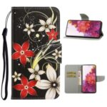 Pattern Printing Flip Leather Wallet Protective Case for Samsung Galaxy S20 FE/Fan Edition/S20 FE 5G/Fan Edition 5G/S20 Lite – Flowers