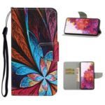 Pattern Printing Flip Leather Wallet Protective Case for Samsung Galaxy S20 FE 5G/Fan Edition 5G/S20 FE/Fan Edition – Flower