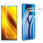 TPU Phone Shell + Tempered Glass Screen Film for Xiaomi Poco X3 NFC