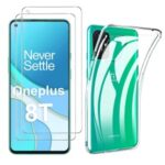 Soft TPU Case for OnePlus 8T Shell with Tempered Glass Screen Film