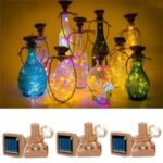 20 LED Bottle Cork Copper-wire Solar Powered Waterproof Decor String Lights – Multi-color
