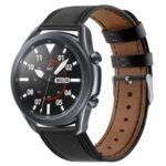 20mm Genuine Leather Replacement Watch Strap for Samsung Galaxy Watch3 41mm etc. – Black