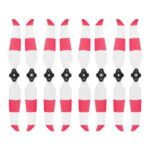 4 Pairs Propellers Quick Release Blade Props Low Noise Colored Propellers for DJI Mavic Air 2 – Red/White