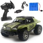 1:18 20KM/H Electric USB Rechargeable RC Car 2.4GHz Remote Control Toy Car – Green