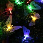 Multicolor Butterfly Solar Fairy String Light 4m 12-LED Home Yard Decor